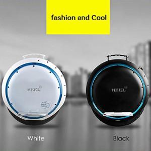 HEEL-TG Selbst Balancing Scooter Elektro-Einrad-Roller mit LED-Licht und Bluetooth Lautsprecher 264WH (Weiß)2
