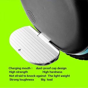 HEEL-TG Selbst Balancing Scooter Elektro-Einrad-Roller mit LED-Licht und Bluetooth Lautsprecher 264WH (Weiß)7
