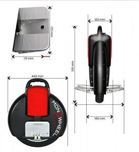 MONOWHEEL Elektro Scooter Einrad Segway Balance Scooter Roller kein Vergleich zum Solowheel 35km Reichweite (E400-Weiß)1