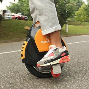MonoRover R1 elektrisches selbstausgleiches Einrad Stehroller Elektroroller, Self Balancing Unicycle, EU (Schwarz-Orange)5