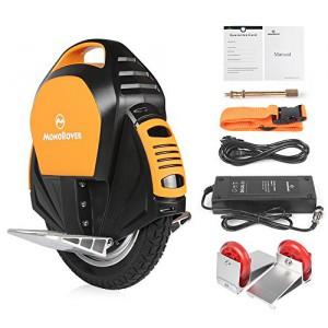 MonoRover R1 elektrisches selbstausgleiches Einrad Stehroller Elektroroller, Self Balancing Unicycle, EU (Schwarz-Orange)4