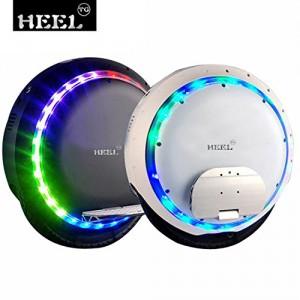 HEEL-TG Selbst Balancing Scooter Elektro-Einrad-Roller mit LED-Licht und Bluetooth Lautsprecher 264WH (Weiß)