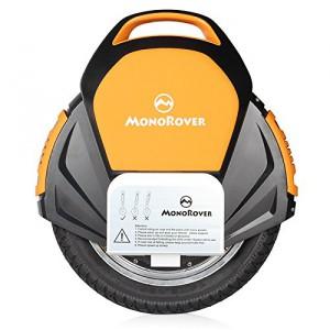 MonoRover R1 elektrisches selbstausgleiches Einrad Stehroller Elektroroller, Self Balancing Unicycle, EU (Schwarz-Orange)