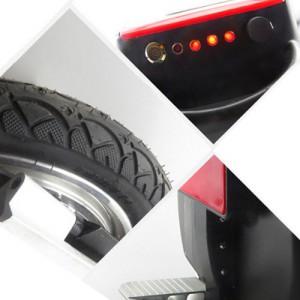 Ecommercia Wasserdicht Elektro Scooter Einrad Segway Balance Scooter Roller kein Vergleich zum Solowheel 25km Reichweite- umweltfreundlich, sportlich, trendig Weiß1