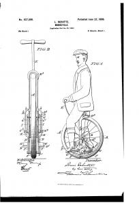 Louis Schutte Angeriebenes Einrad Quelle: google.com/patents